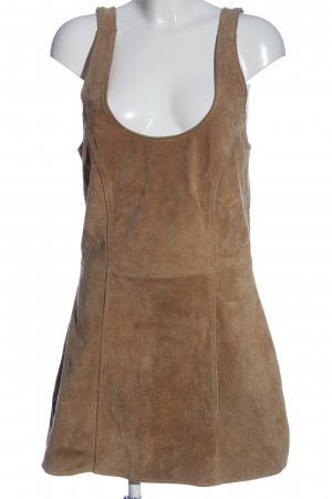 Gipsy Leather Dress brown casual look