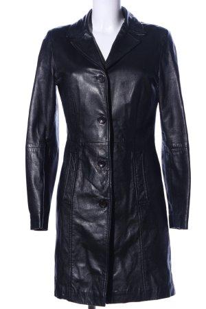 Gipsy Leren jas zwart casual uitstraling