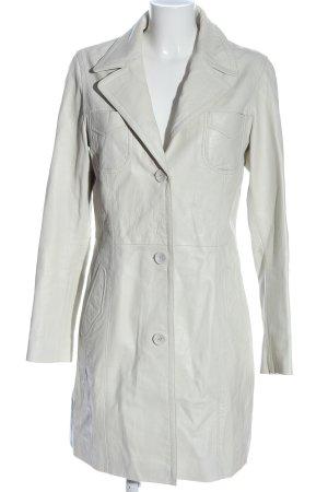Gipsy Cappotto in pelle bianco stile casual