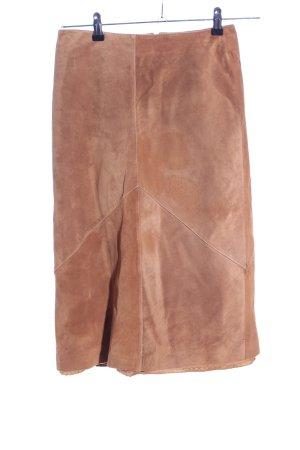 Gipsy Jupe en cuir brun style décontracté