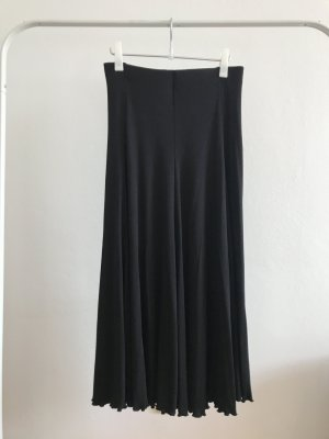 Falda de punto negro Algodón