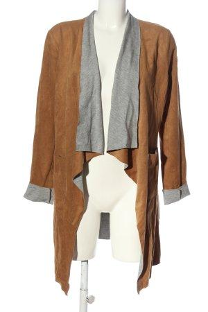 Gipsy Abrigo de entretiempo marrón-gris claro moteado look casual