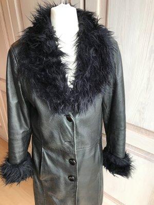 Gipsy Manteau en cuir noir cuir