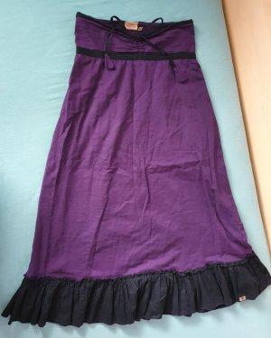 Broomstick Skirt black-lilac cotton