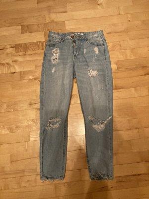 Boyfriend Trousers azure