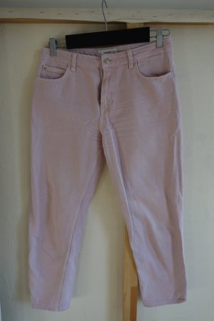 Girlfriend Jeans in Blassrosa mit 7/8 Länge