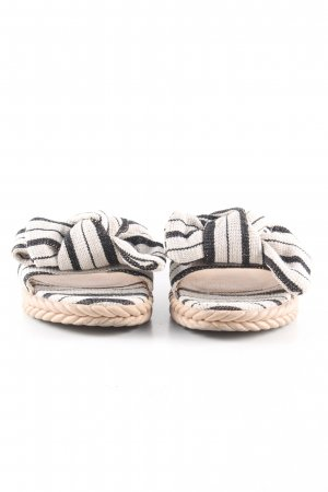 Girlhood Sabots white-black striped pattern casual look