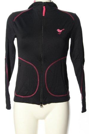 Girls Golf Sportjacke schwarz Schriftzug gedruckt Casual-Look