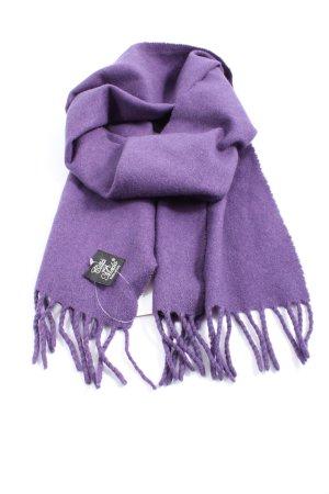 Gitta della moda Sciarpa con frange lilla stile casual