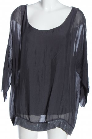 Giulia Shirt Blouse light grey-silver-colored casual look