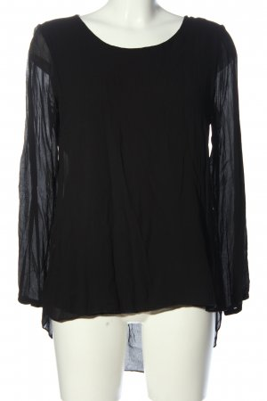 Giulia Long Sleeve Blouse black elegant