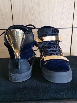Giuseppe Zanotti High Top Sneaker black-dark blue