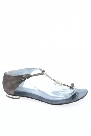 Giuseppe Zanotti Flip-Flop Sandals brown-silver-colored casual look