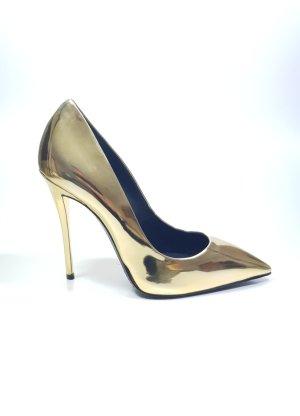Giuseppe Zanotti Gold Pumps Heels 37 Neu OVP