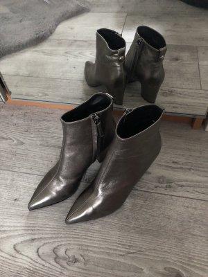 Giuseppe Zanotti Schuhe Damen Stiefeletten Leder neu Metallic