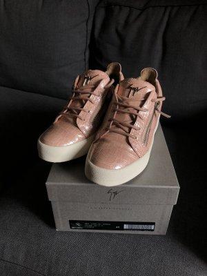 Giuseppe Zanotti Sneaker Damen Gr 40 Rosa Kroko-Print