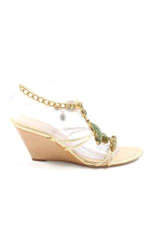 Giuseppe Zanotti Wedges Sandaletten goldfarben Elegant