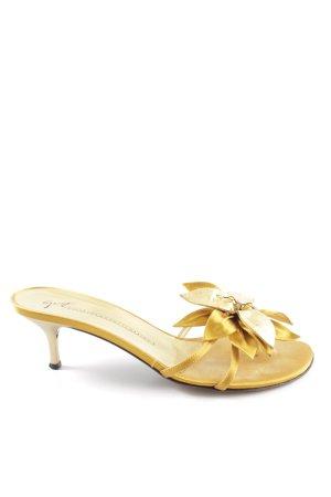 Giuseppe Zanotti Zehen-Sandaletten goldfarben Elegant
