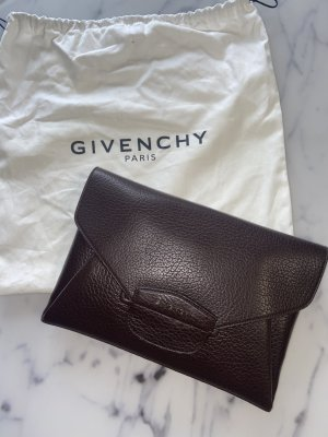 Givenchy Antigona Envelope Clutch Braun High End Designer Leder Leather