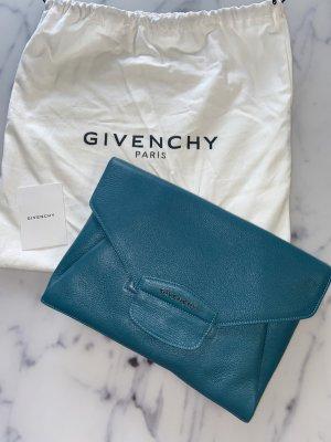 Givenchy Antigona Envelope Clutch Petrol Türkis High End Designer Leder Leather