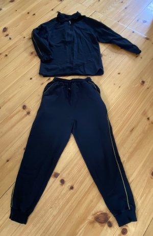 Givenchy Anzug Jogginganzug Trainingsanzug Hausanzug Schwarz Gold Baumwolle 36/38