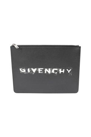 Givenchy Clutch in Schwarz aus Leder