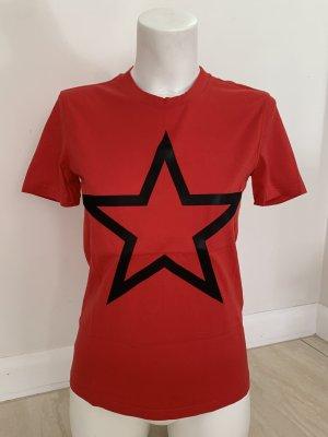 Givenchy Camiseta estampada negro-rojo