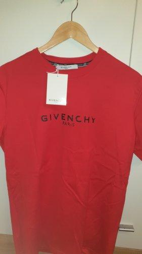 Givenchy Destroyed Font T-Shirt - Größe XL [rot,NEU] ORIGINAL