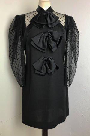 * GIVENCHY * festliches ABENDKLEID COCKTAIL KLEID Wolle schwarz *neuwertig* Gr 38 40 M L
