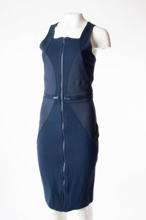 GIVENCHY - Figurbetontes Jerseykleid Dunkelblau