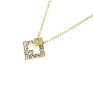 Givenchy G Logo Rhinestone Necklace