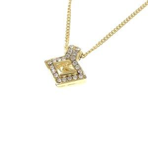 Givenchy G Logo Rhinestone Pendant Necklace
