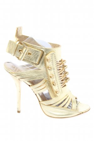 Givenchy High Heels goldfarben extravaganter Stil