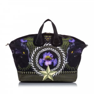 Givenchy Iris Print Canvas Nightingale Satchel