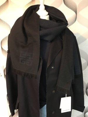 Givenchy Szalik z kaszmiru ciemnoniebieski-czarny Kaszmir
