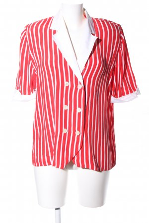 Givenchy Kurzarm-Bluse rot-weiß Streifenmuster Casual-Look