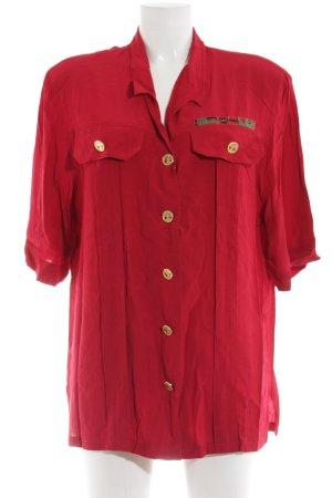 Givenchy Blusa de manga corta rojo oscuro look Street-Style