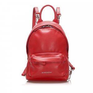 Givenchy Sac à dos rouge cuir