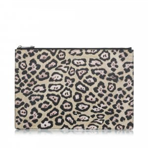 Givenchy Leopard Print Pony Hair Pouch