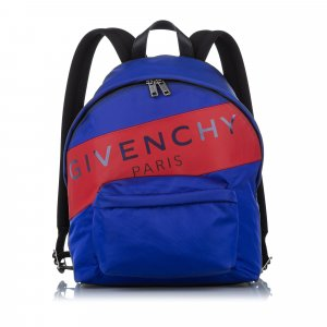 Givenchy Logo Stripe Nylon Backpack