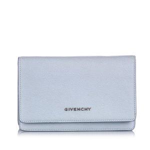 Givenchy Portefeuille bleu clair cuir