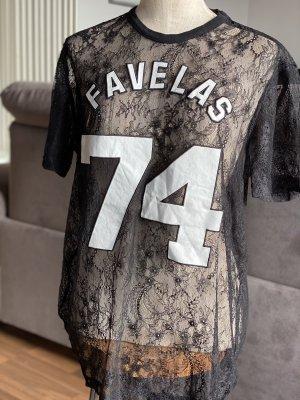 Givenchy Długa koszulka czarny-biały