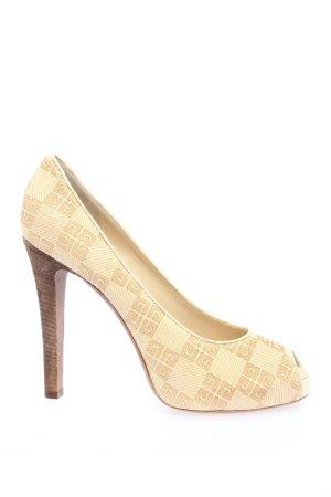 Givenchy Peep Toe Pumps wolwit-bruin zakelijke stijl