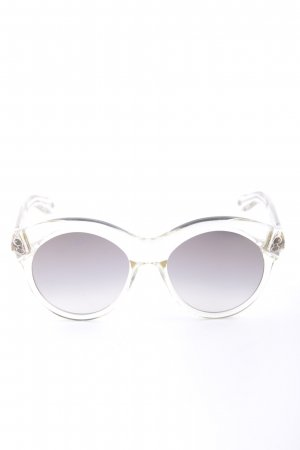 Givenchy Ronde zonnebril lichtgrijs-goud casual uitstraling