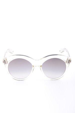 Givenchy Lunettes de soleil rondes gris clair-doré style décontracté
