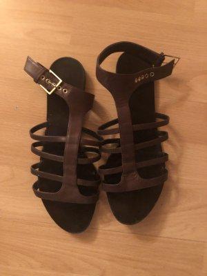 Givenchy Sandalias romanas marrón oscuro