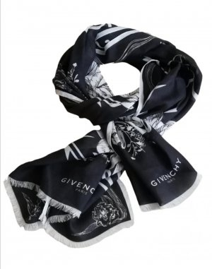 Givenchy Cashmere Scarf white-black