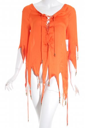 Givenchy Seidenbluse orange-bronzefarben extravaganter Stil