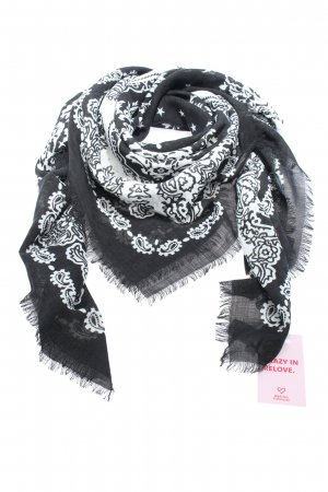 Givenchy Sciarpa estiva nero-bianco motivo astratto stile casual