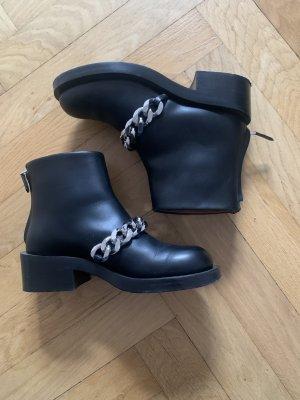 Givenchy Botas bajas negro-color plata